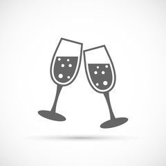 Glasses champagne icon