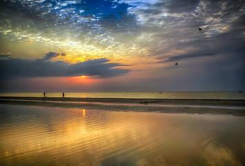Sunrise over Azov sea