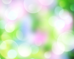Fresh spring Easter abstract bokeh background.