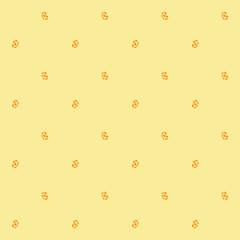 Seamless pattern of orange whorls curlicues