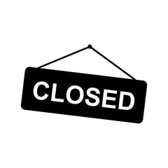 Closed sign. Vector icon
