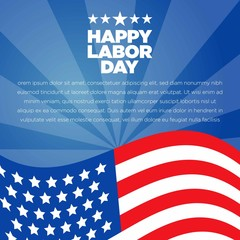 American Labor Day Blue Background