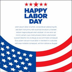 Labor Day American Cure Flag
