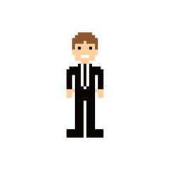 pixel people theme avatar guy