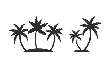 Palm tree - vector icon.