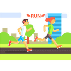 Two Runners In The City