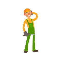 Profession Builder Vector Illustration