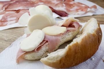 ham sandwich with provola