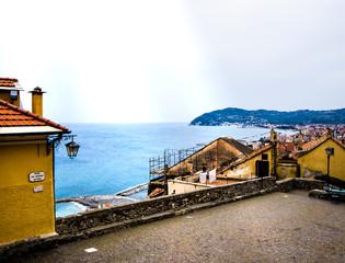 vista panoramica sul mare, Cervo, Imperia, Liguria, Italia