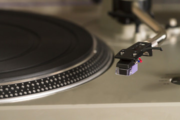 Turntable close-up