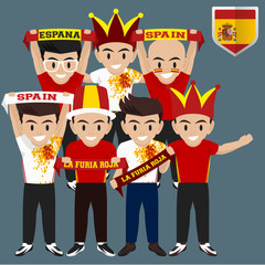 Soccer / Football Supporter / Fans from Spain