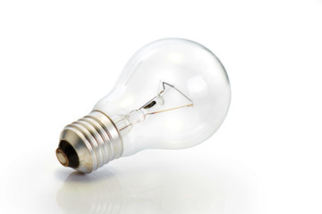 Light bulb / Light bulb on white background.