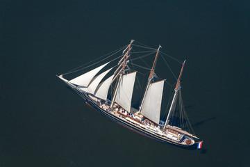 Tall ship race. Regatta in Baltic sea. Latva.