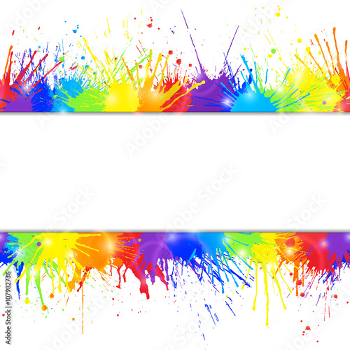 Fun Colorful Acrylic Paint Background