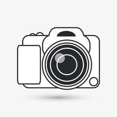 Icon of camera design, vector illustration