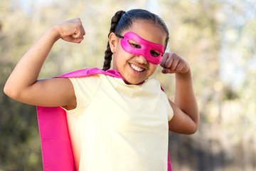 Little girl super hero.