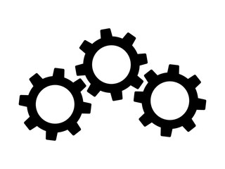 machine gears / cogs flat icon for apps and websites