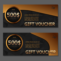 Gift voucher. Coupon and voucher template for company corporate