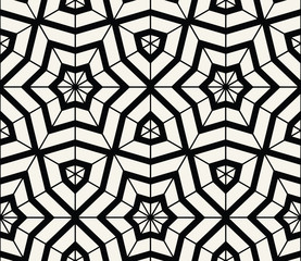 Star seamless geometric pattern background vector