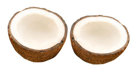 Coconut with half