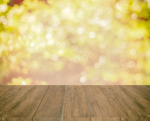 old wood texture and glitter of tree  background, vintage toning