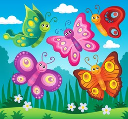 Happy butterflies theme image 2