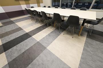 Floor in empty meeting room