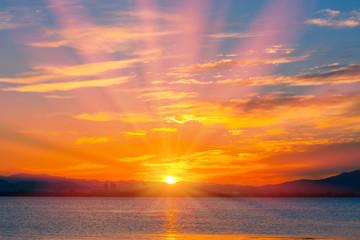 琵琶湖畔の朝