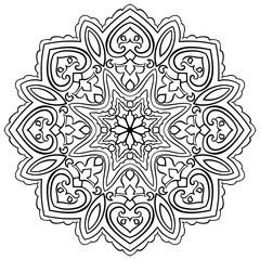 Simple abstract mandala.