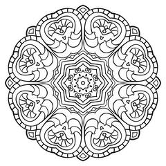 Abstract simple mandala.