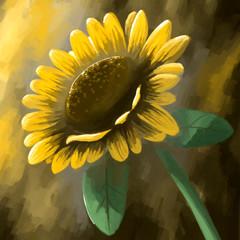 painting still life flower