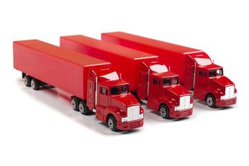 Red trucks