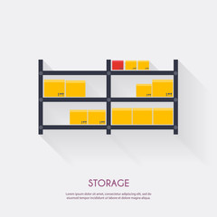 Storage. Warehouse icons logistic blank and transportation, stor