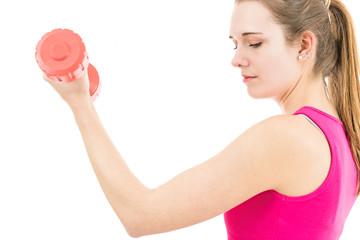 Sporty woman training