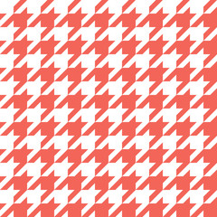 Houndstooth Pattern Red in Vector