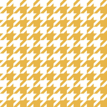 Houndstooth Pattern Yellow in Vector