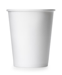 takeaway paper cup isolated on white with clipping path