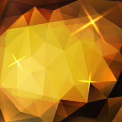 Abstract yellow triangles background