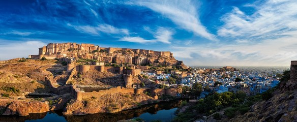 Mehrangarh Fort, Jodhpur, Rajasthan, India Wall mural