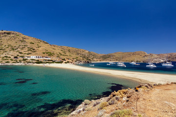 Kolona exotic beach in Kythnos island Greece