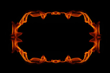 Abstract fire frame on a black background