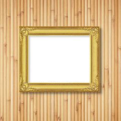 Picture frame on bamboo wall
