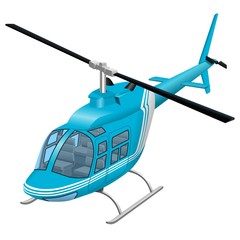 Helicopter vector illustration | Helicopter photorealistic color icon isolated on white