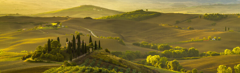 Poster Toscane beautiful morning in Tuscany