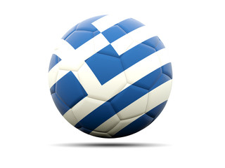 Football with flag of greece