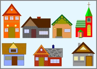 Types of various small houses.
