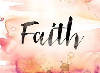 Watercolor Faith Wall mural
