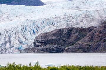 Mendenhall Glacier and Lake in Juneau, Alaska, USA summer