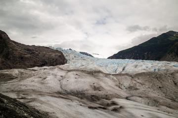 Mendenhall Glacier in Juneau Alaska national monument