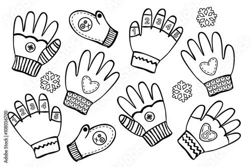 Finde den Handschuh ohne Paar!\